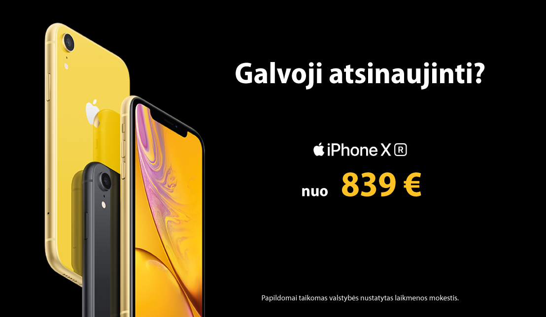 """iPhone XR"" nuo 839 €"