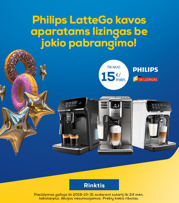 """LatteGo"" be pabrangimo"