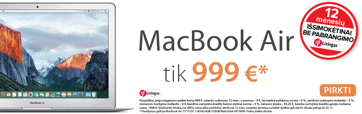 MacBook lizingo akcija